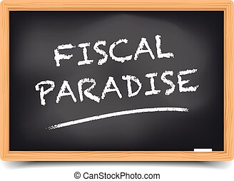 Blackboard Fiscal Paradise - detailed illustration of a...