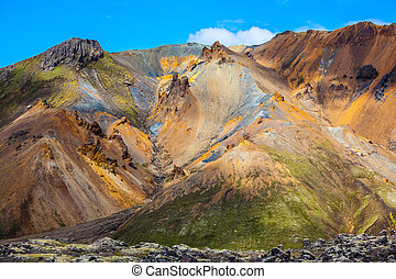 Travel to Iceland in the July Multi-colored mountains from...