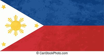True proportions Philippines flag with texture - True...