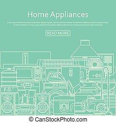 Home appliances concept