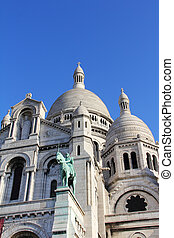 Basilica Sacre Coeur at Montmartre in Paris, France