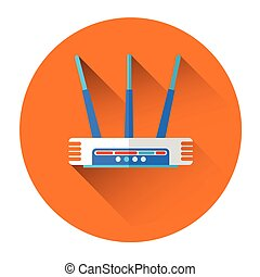 Wifi Router Icon Flat Vector Illustration