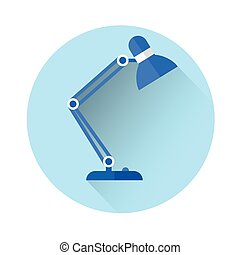 Table Lamp Colorful Icon Flat Vector Illustration
