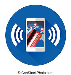 Online Banking Mobile Payment Cell Smart Phone Icon