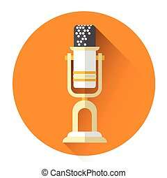 Microphone Icon Flat