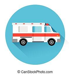 Ambulance Medical Car First Aid Icon