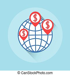 World Crowdfunding Money Colorful Icon