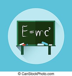 Albert Einsteins Physical Formula on School Board Mass...