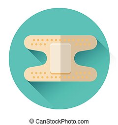 Medical Plaster Icon Flat Vector Illustration