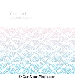 Vector ornate border boho background with copy space...