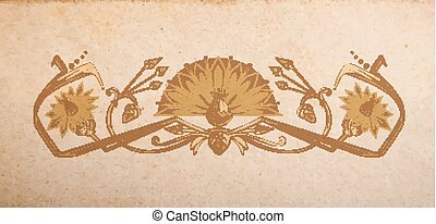 Vintage egyptian ornament - Vector ornament in egyptian...