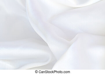 Smooth elegant white silk, satin fabric background texture