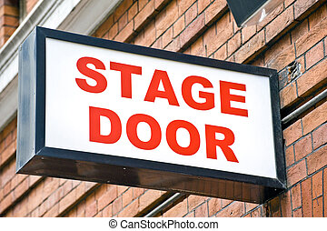 London Theatre Stage Door Sign