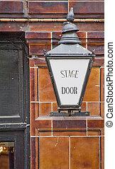 ロンドン, ステージ, ドア, 劇場, 印