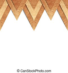 Metallic old gold paper border background