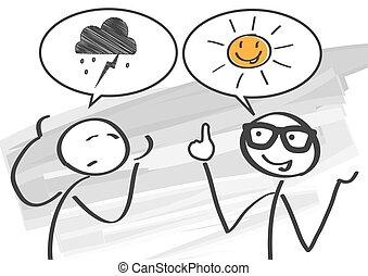 Optimist vs Pessimist - pessimist and optimist discuss