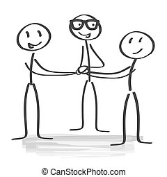 Team spirit - Motivation - businesspeople piling hands