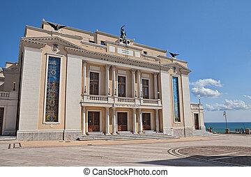 Teatro Vittoria (1930) in Ortona, Abruzzo, Italy - Ortona,...