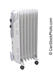 classic model of heater - Radiator with thermostat set on...