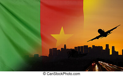 Cameroon fabric Flag Travel and Transport Concept - Travel...