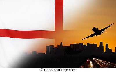 England fabric Flag Travel and Transport Concept - Travel...