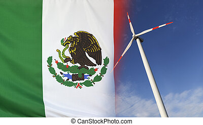 Concept Clean Energy in Mexico - Concept clean energy with...