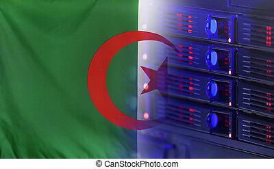 bandera, concepto, tecnología, Argelia