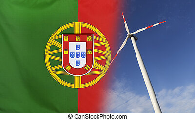 Concept Clean Energy in Portugal - Concept clean energy with...