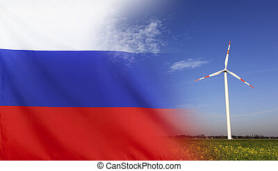 Concept Clean Energy in Russia - Concept clean energy with...