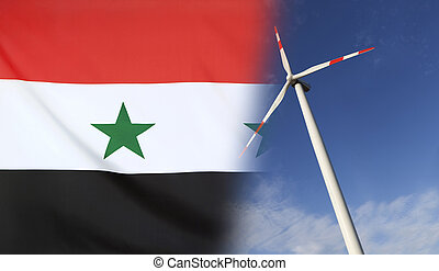 Concept Clean Energy in Syria - Concept clean energy with...
