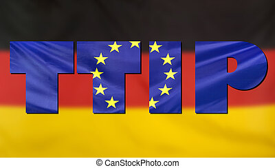 TTIP Concept Germany and EU flags composition - Concept TTIP...