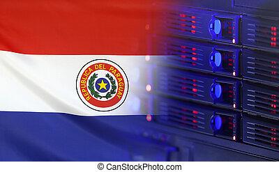 Paraguay, bandera, concepto, tecnología