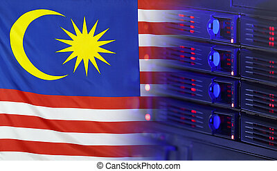 malasia, bandera, concepto, tecnología
