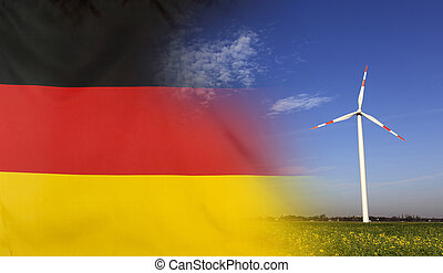 Concept Clean Energy in Germany - Concept clean energy with...