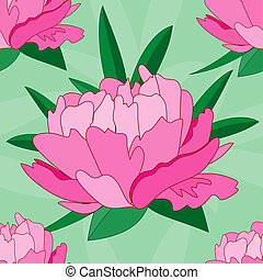 background seamlessly with peonies - Vector element for the...