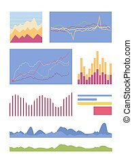 Statistic Graphic Element Vector Collection - Set of graphic...