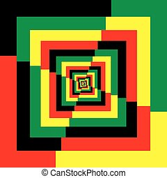 Abstract Frame Multiple Color Perspective