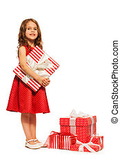 One little girl and so many Christmas presents - Beautiful...