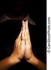 Praying hands - Woman hands praying