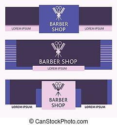 Vector heraldic logo for a hairdressing salon. Template web...