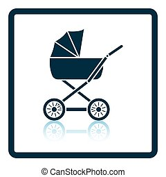 Pram icon Shadow reflection design Vector illustration