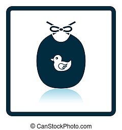 Bib icon. Shadow reflection design. Vector illustration.