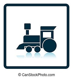Train toy icon. Shadow reflection design. Vector...