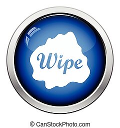 Wipe cloth icon Glossy button design Vector illustration