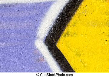 Closeup abstract painted wall of the city Street art...