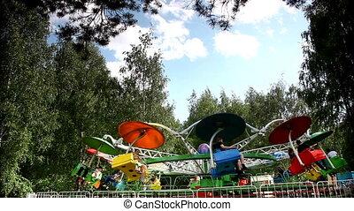 Carousel merry-go-round time lapse