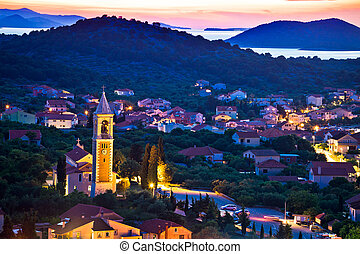 Town of Murter evening view, Dalmatia, Croatia