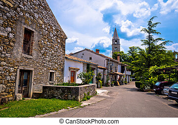 Stone village of Roc main street view, Istria, Croatia