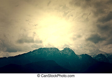Giewont in Tatry Mountains Nature landscape in mountains