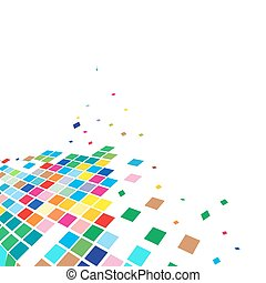 abstract mosaic vector composition with sapce of our sample...